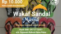Wakaf Sandal Masjid Tasikmalaya dan Priangan Timur