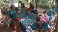 Penyaluran bantuan air bersih di Jawa Tengah